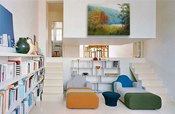 Contemporary, landscape painting, fall landscape, corporate art, Liron Sissman