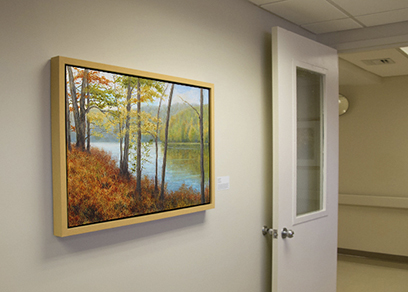 healing art, healthcare art, nature art for hospitals, reduce stress, art for medical centers, Hackensack University Medical Center Hospital art, Liron Sissman