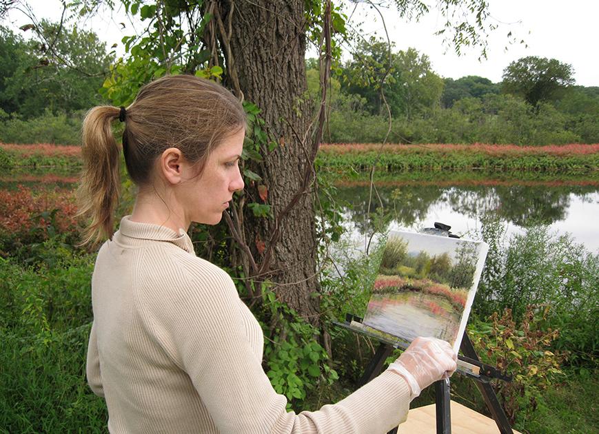 Liron Sissman, Liron art, Liron Zissman, artist, plein air painting, Hudson Valley