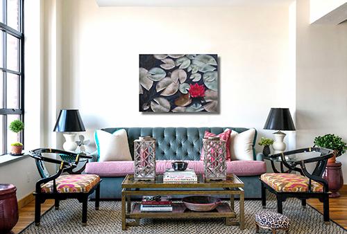 healing art, nature art, corporate art, Waterlilies, The Power of One, Liron Sissman