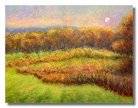 Healing art for hospitals, fall landscape, trees