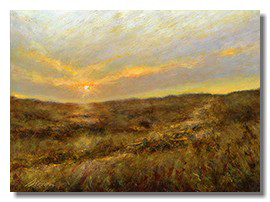 Healing art for medical centers, sunset painting
