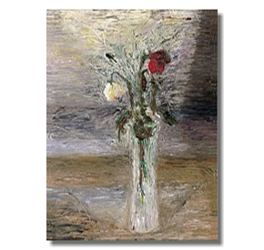 Liron Sissman, Two Roses flower painting, floral, the end of the affair