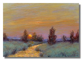 Luminous landscape, sunset painting, liron sissman, vertical landscape,