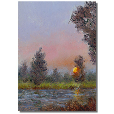 Luminous landscape, Luminous landcape painting, Sunset painting, fall painting, Liron Sissman, art f