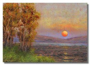 luminous oil paintings on copper, luminous landscapes, Liron Sissman