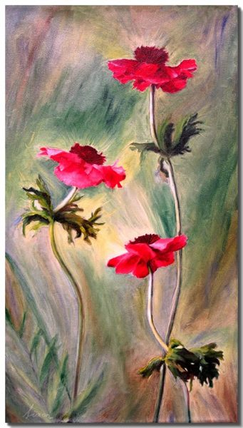 Ascending Red Poppies